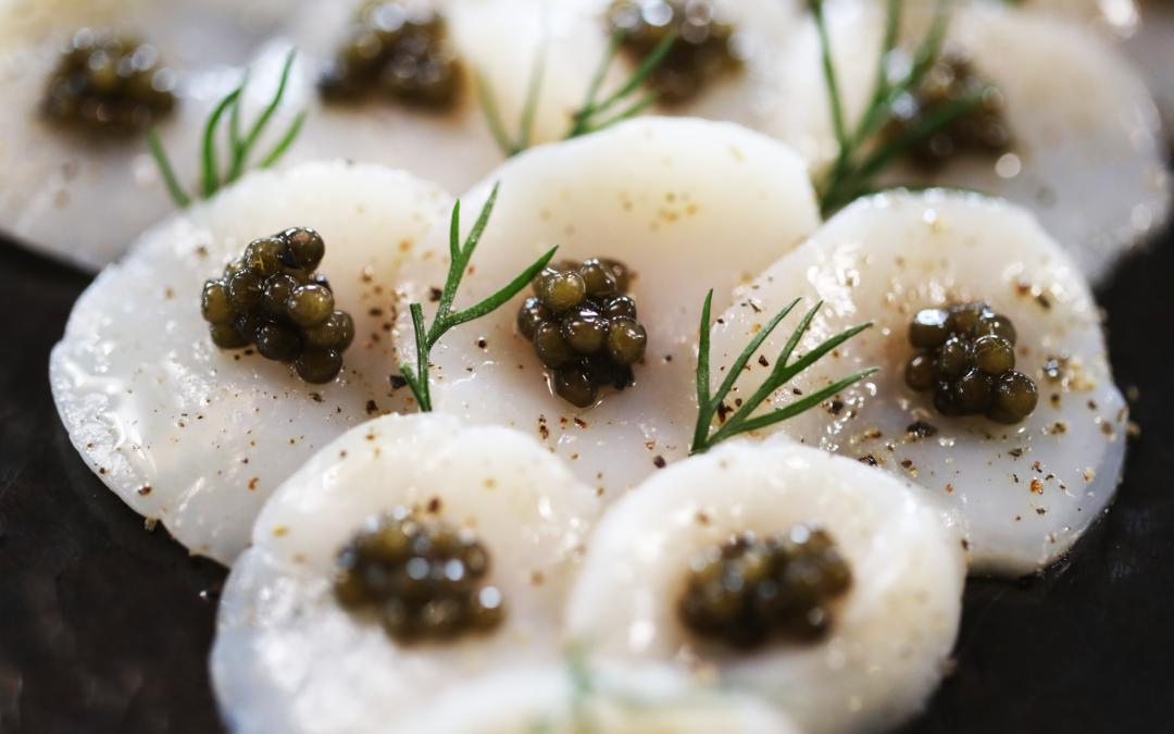 Carpaccio de St-Jacques Caviar